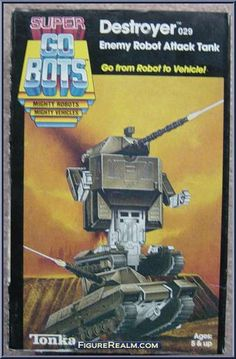 go bots destroyer | Destroyer from Go-Bots - Super Go-Bots manufactured by Tonka [Front]