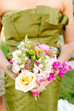 Another colorful collection of summertime wedding blooms.