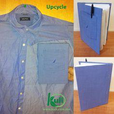 Reuso de una camisa para forrar un cuaderno / Reuse of a shirt to make a notebook cover