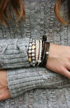 Boho Braided Leather Wrap Bracelet / White Eco