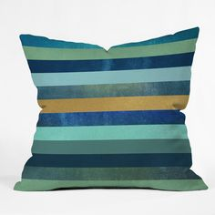 Elisabeth Fredriksson Ocean Deep Outdoor Throw Pillow | Deny Designs
