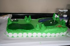 Golf fairway cake