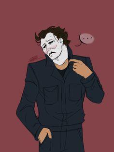 Michael Myers, Michael X, Horror Movies Funny, Scary Movies, Horror Icons, Horror Art, Scary Movie Characters, Horror Villains, Movie Memes