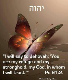 """I will say to Yahuah: ""You are my Refuge and my Stronghold, my Elohim, in Whom I will trust"" Psalm 91:2"