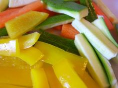 Bastoncini di verdura al forno (light)