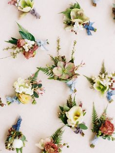 I adore the variety here! - Beautiful assorted floral buttonholes featuring hellebores, roses and scabious. Created by florist Jessica Zimmerman and photographed by wedding photographer Erin Wilson Floral Wedding, Wedding Colors, Wedding Flowers, Blue Wedding, Wedding Groom, Boutonnieres, Wedding Boutonniere, Bridesmaid Bouquet, Wedding Bouquets