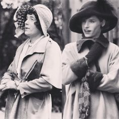 RESPECTFUL PORTRAYAL: The real Lili Elbe and Eddie Redmayne in costume as Elbe for The Danish Girl location filming in Copenhagen