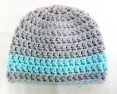BABY BOY HAT, crochet baby hat. @La Farme / Anne Brennaman let's learn to crochet, STAT!