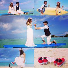 SUP Photo Wedding 今日は幸せいっぱいのお二人を撮影してきました みなさまもぜひ沖縄旅行の合間に幸せの一コマを写真に収めませんか  #ビーチフォト #ビーチフォトウェディング #沖縄#青空#白い砂浜#sup#supwedding#beachphoto#海#シーナサーフ#愛の誓い#okinawa#seanasurf#justmarried #instagood #vans #沖縄結婚式#ウェディングフォト#ウェディングドレス#記念写真