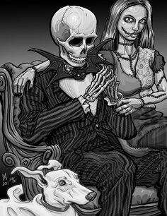 ✯ The Nightmare Before Christmas :: By ~Quasilucid ✯ how cool would it be to get a couple's photo like this