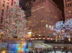 Rockefeller Center in December.