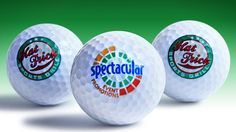 Golf Balls printed full colour with branding or logo