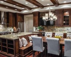 kitchen island with built in bench seating