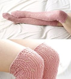 Delicate Pink Lace long socks by SabiKrabi on Etsy My Socks, Knee Socks, Boot Socks, Pink Socks, Knitting Socks, Hand Knitting, Knitting Patterns, Ugg Boots Outfit, Pink Acrylics