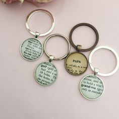 Custom one of a kind vintage dictionary key chains... Perfect gift for Grad or Dad!    https://www.etsy.com/listing/279189498/definition-key-chains-vintage-dictionary