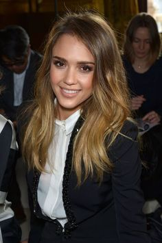 Jessica Alba front row at Stella McCartney Fall Winter 2013