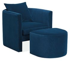 Silva Chair & Ottoman - Modern Accent & Lounge Chairs - Modern Living Room Furniture - Room & Board