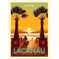Lacanau Ocean, Victor Brauner, Ville France, Surf Art, Vintage Travel Posters, Geography, Bordeaux, Print Design, Surfing
