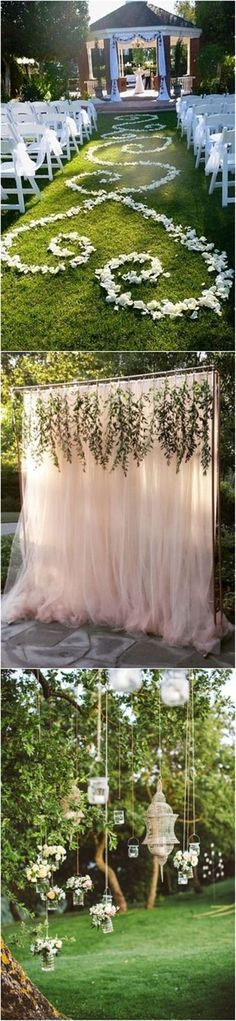 Outdoor Wedding decorations | http://www.weddinginclude.com/2016/11/genius-outdoor-wedding-ideas/