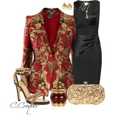 Printed Blazer Contest by ccroquer on Polyvore featuring мода, Reiss, Chloé and Lauren Ralph Lauren