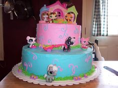 Littlest Pet Shop Cake And Cupcakes — Childrens Birthday Cakes ...