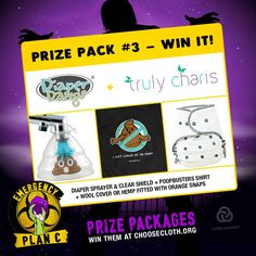 OPEN - Giveaway! Win our #DiaperDawgs all in on #DiaperSprayer with the #SprayCollar. Win a #Ghostbusters inspired t-shirt and a fitted Cloth Diaper TrulyCharis! Click the image for details on how to enter! #ClothDiapers #Giveaways #DiaperSprayer http://DiaperDawgs.com