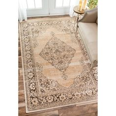 Shop for nuLOOM Oriental Vintage Viscose Persian Ivory Area Rug (5'2 x 8'). Get free shipping at Overstock.com - Your Online Home Decor Outlet Store! Get 5% in rewards with Club O!
