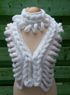 (6) Name: 'Knitting : Shawl Scarf Braid Ladder  - pattern $5