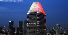 Millenia Tower architectural lighting design