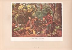 Mink Trapping and Husking, Currier and Ives from the book Printmakers to the American People by Blossomsvintageprint on Etsy