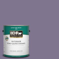 BEHR Premium Plus 1-gal. #650F-5 Purple Statice Zero VOC Semi-Gloss Enamel Interior Paint