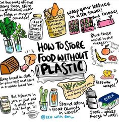 Low waste living Easy hacks to store your food plastic free and give your produce longer life. Live zero waste for low impact on our environment Reduce Reuse Recycle, How To Recycle, Plastic Waste, Plastic Recycling, Plastic Wrap, Plastic Bags, Plastic Bag Storage, Plastic Film, Sustainable Living