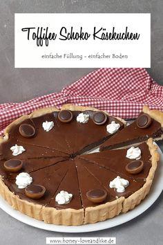 Toffifee Schoko Käsekuchen - Einfache Füllung, einfacher Boden Tolle Desserts, Pie, Food, Simply Filling, Cool Recipes, Molten Chocolate, Holiday, Dessert Ideas, Torte