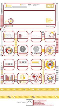 iPhone6s-6スキンシール|ホワイト|サイバーパンク。iPhone6s-6スキンシールとアイコンと壁紙が全部つながる!壁紙とアイコンはQRコードから無料ダウンロード