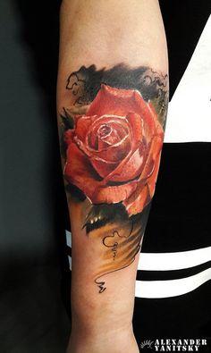 Tatuagens no Antebraço |  rosa                                                                                                                                                                                 Mais