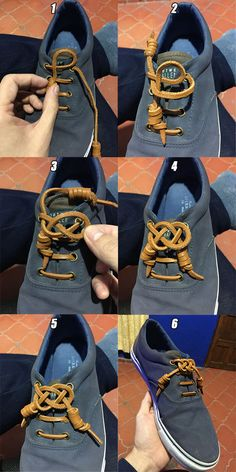 Celtic Knot for Leather Laces, explained. Celtic Patterns, Celtic Designs, Lace Patterns, Escudo Viking, Celtic Crafts, Flipflops, Creative Shoes, Tie Shoelaces, Paracord