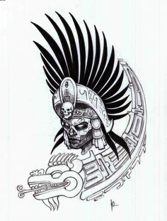 aztec warrior tattoo sketches is free HD wallpaper. Aztec Warrior Tattoo, Aztec Tribal Tattoos, Aztec Tattoo Designs, Aztec Art, Warrior Tattoos, Aztec Designs, Kunst Tattoos, Body Art Tattoos, Aztec Drawing