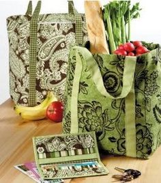 Free Fabric Grocery Bag Pattern