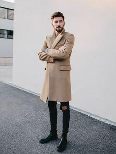 camel coat, winter street style