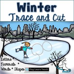 Winter activities Handwriting cutting scissors tracing Fine motor  Winter Trace and Cut  Activities is designed for early learners to  trace or cut a variety of lines and shapes  to improve their fine motor skills.    Included are 16 lines to trace; 16 lines to cut; numerals 0 through 30 to trace; 10 shape pages in assorted sizes, and 2 sets of alphabet pages to trace and copy.