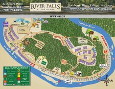 View the campground map at River Falls at the Gorge in Lakemont, GA. Rv Camping Tips, Travel Trailer Camping, Camping List, Camping Places, Camping Spots, Rv Travel, Tent Camping, Camping Ideas, Florida Camping