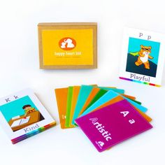 Feelings Flashcards - An Emotions ABC Card Game for Kids- to Build Emotional and Positive Vocabulary - For Montessori, Waldorf and Kids with Autism / Special Needs - Ages 3-8 years
