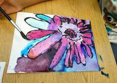 Earl Warren Arts: First/Second: Georgia O'Keefe inspired flowers