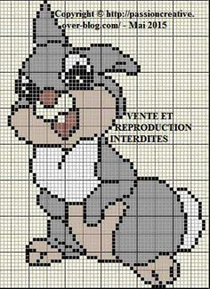 Disney Thumper cross stitch.