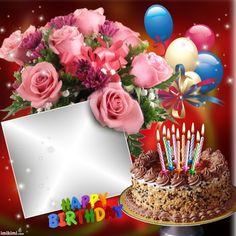 Image Birthday Cake, Happy Birthday Wishes Photos, Birthday Wishes Flowers, Happy Birthday Best Friend, Happy Birthday Frame, Happy Birthday Cake Images, Happy Birthday Wishes Images, Birthday Frames, Happy Birthday Greetings