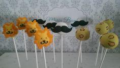 | Lion, Leopard print and mustache cakepops |