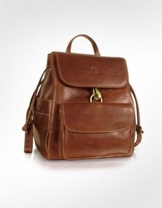 Chiarugi Handmade Brown Leather Backpack