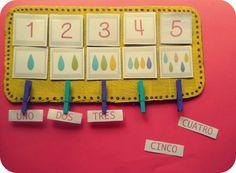 LLUVIA DE IDEAS: Materiales DIY: Propuestas manipulativas para trabajar los números
