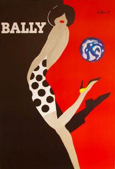 Art Deco Bally poster - my lovely man got me one of these :) Art Vintage, Vintage Ads, Vintage Prints, Vintage Posters, Vintage Glamour, Retro Posters, Vintage Food, Dress Vintage, Shoe Poster