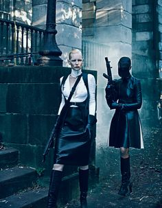 new order: aline weber, christina kruse and kirsten owen by steven klein for interview september 2012